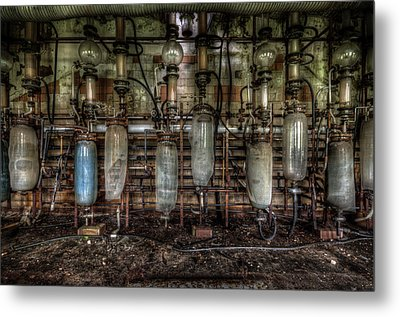 Bottles Hanging On The Wall  Metal Print by Nathan Wright