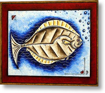 Bottom Of The Sea Creature Original Madart Painting Metal Print by Megan Duncanson