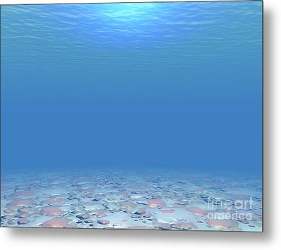 Metal Print featuring the digital art Bottom Of The Sea by Phil Perkins