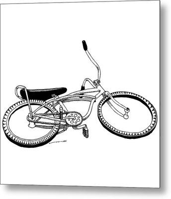 Bottom Up Bike Metal Print by Karl Addison