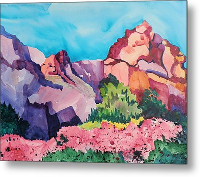 Bougainvillea In The Mountains Metal Print