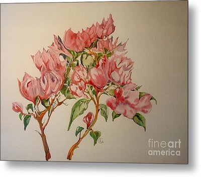 Metal Print featuring the painting Bougainvillea by Iya Carson
