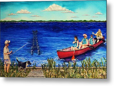 Bouge Sound Summer Outing Metal Print by Jeanette Stewart