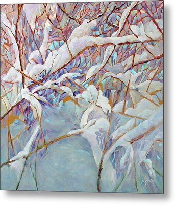 Metal Print featuring the painting Boughs In Winter by Joanne Smoley