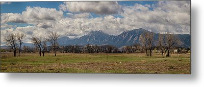 Metal Print featuring the photograph Boulder Colorado Front Range Panorama View by James BO Insogna