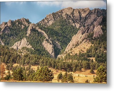 Metal Print featuring the photograph Boulder Colorado Rocky Mountain Foothills by James BO Insogna