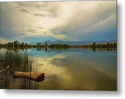 Metal Print featuring the photograph Boulder County Colorado Calm Before The Storm by James BO Insogna