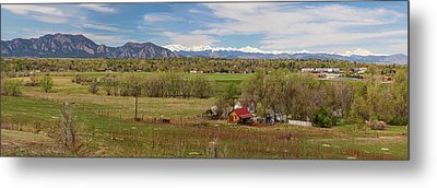 Metal Print featuring the photograph Boulder Louisville Lafayette Colorado Front Range Panorama by James BO Insogna