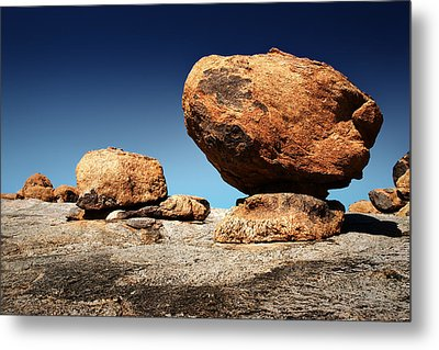 Boulder On Solid Rock Metal Print by Johan Swanepoel
