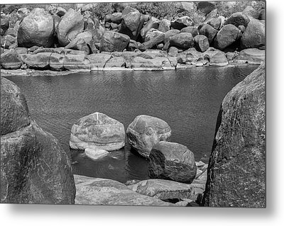 Metal Print featuring the photograph Boulders Of Tungabhadra, Hampi, 2017 by Hitendra SINKAR