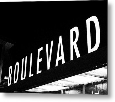 Boulevard Lights Up The Night Metal Print