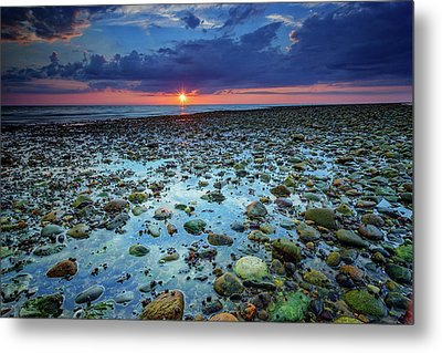 Bound Brook Sunset IIi Metal Print by Rick Berk