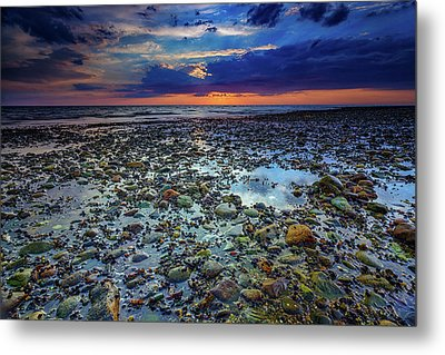 Bound Brook Sunset Metal Print by Rick Berk