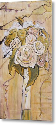 Bouquet Metal Print by Carrie Jackson