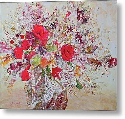 Metal Print featuring the painting Bouquet Desjours by Joanne Smoley