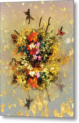Metal Print featuring the photograph Bouquet  by Gouzel -