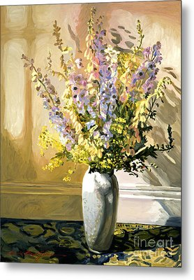 Bouquet Impressions Metal Print by David Lloyd Glover