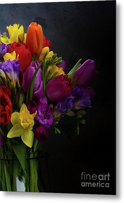 Flowers Dutch Style Metal Print