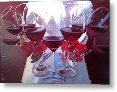 Bouquet Of Cabernet Metal Print by Penelope Moore