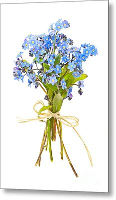Bouquet Of Forget-me-nots Metal Print