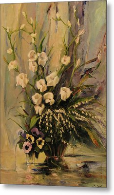 Metal Print featuring the painting Bouquet by Tigran Ghulyan