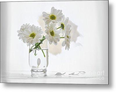 Bouquet White Flowers Metal Print by larisa Fedotova