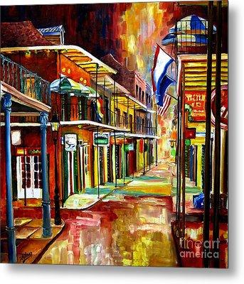 Bourbon Street Lights Metal Print by Diane Millsap