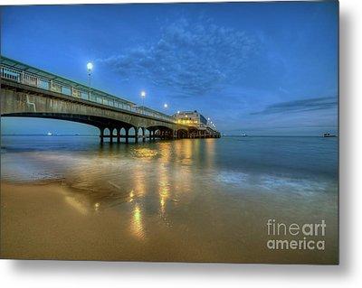 Bournemouth Pier Blue Hour Metal Print by Yhun Suarez