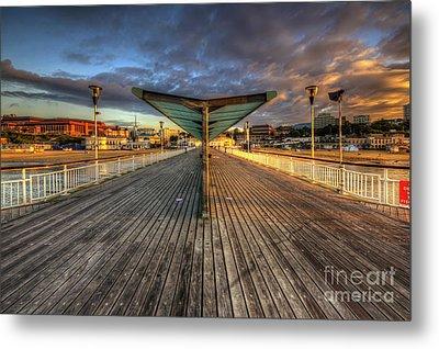 Bournemouth Pier Sunrise 2.0 Metal Print by Yhun Suarez