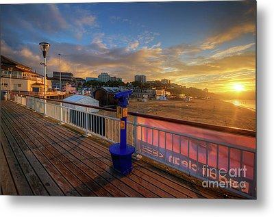 Bournemouth Pier Sunrise Metal Print by Yhun Suarez