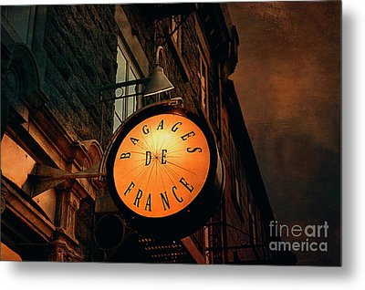 Boutique Sign - Quebec City Metal Print by Maria Angelica Maira