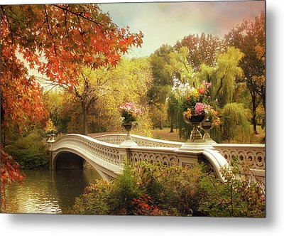 Metal Print featuring the photograph Bow Bridge Crossing by Jessica Jenney