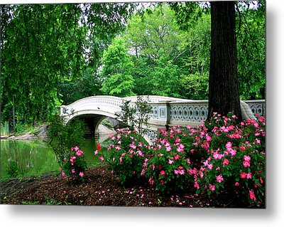 Bow Bridge In Springtime Metal Print