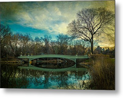Metal Print featuring the photograph Bow Bridge Reflection by Chris Lord