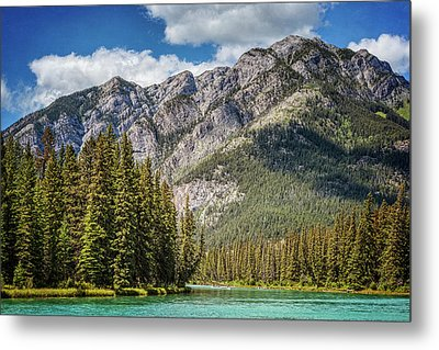 Bow River Banff Alberta Metal Print by Joan Carroll