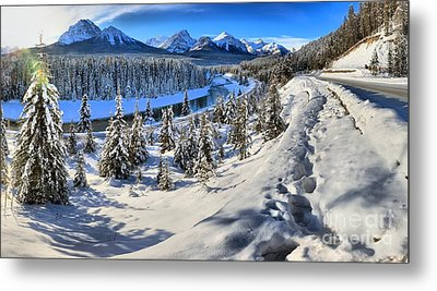 Bow Valley Mountains Metal Print by Adam Jewell