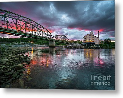 Bowdoin Mill Sunset Metal Print