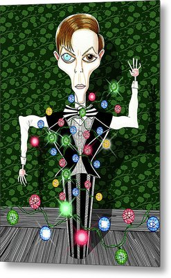 Bowie Christmas Tree  Metal Print by Andrew Hitchen