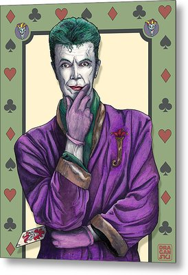 Bowie Joker Metal Print by Edward Draganski