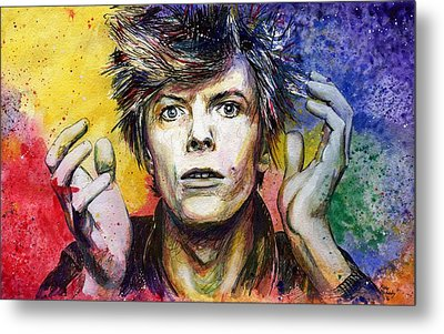 Bowie Metal Print by Nate Michaels
