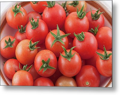 Metal Print featuring the photograph Bowl Of Cherry Tomatoes by James BO Insogna