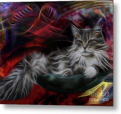 Bowl Of More Fur Metal Print