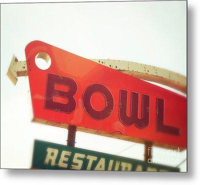 Bowling Here Metal Print by Sonja Quintero