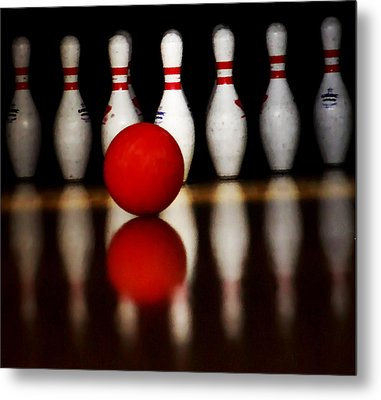 Bowling Reflections Metal Print