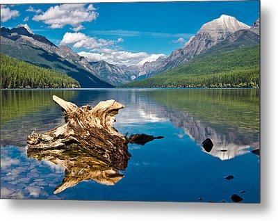 Bowman Lake 1, Glacier Nat'l Park Metal Print