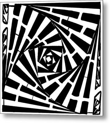 Box In A Box Maze Metal Print by Yonatan Frimer Maze Artist