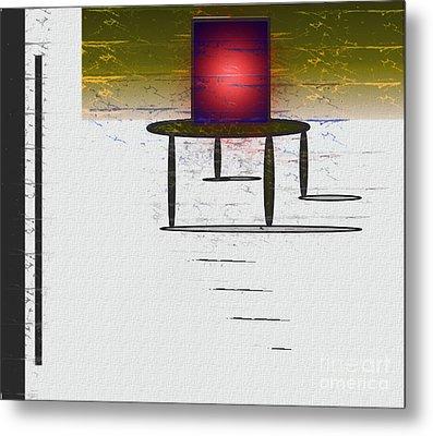 Box On A Table Metal Print by John Krakora