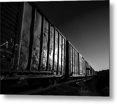 Boxcar Sunrise Metal Print by Bob Orsillo