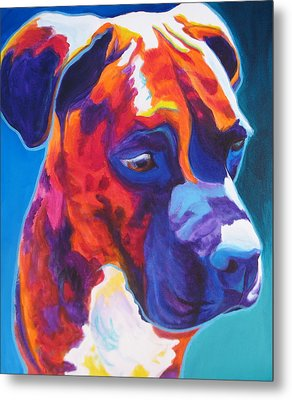 Boxer - Jax Metal Print by Alicia VanNoy Call