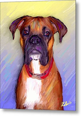 Boxer Beauty Metal Print by Karen Derrico